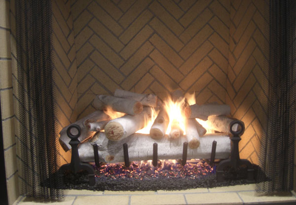 Fireplace Glass Ceramic Gas Logs Fire Glass Orange